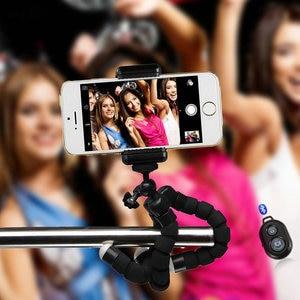 Image 5 - 유연한 미니 삼각대 유연한 전화 삼각대 e 타입 전화 클립 1/4 나사 구멍 카메라 미니 삼각대 스마트 폰 및 카메라