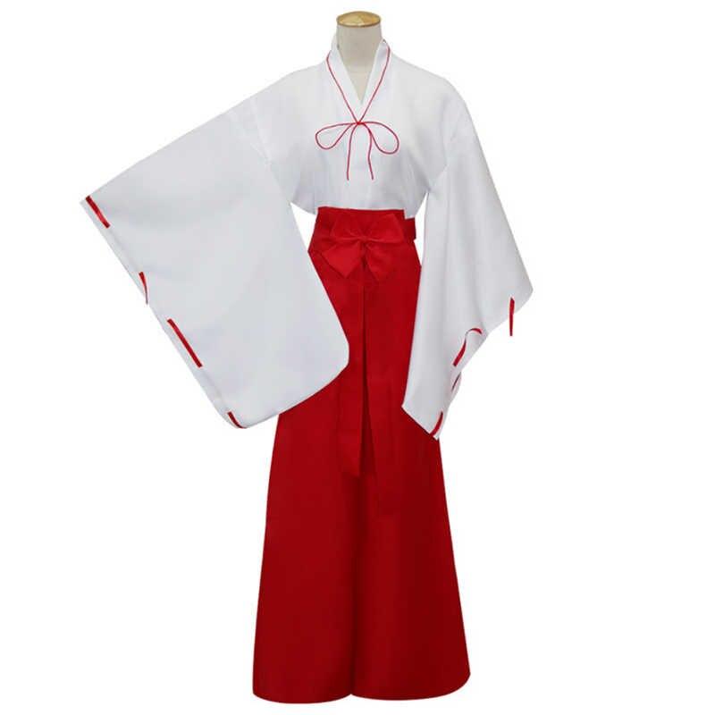 Аниме Косплей инуяши костюмы Kikyou Косплей Костюм колдуна Хэллоуин Вечерние игры Miko Sama женский костюм для косплея
