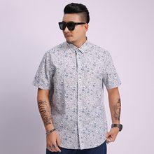 Plus size 8xl 7xl Short Sleeve Men Shirt Hawaiian Casual Shirt Male Summer Pattern Shirts Flamingos Cotton Mens Dress Shirts(China)