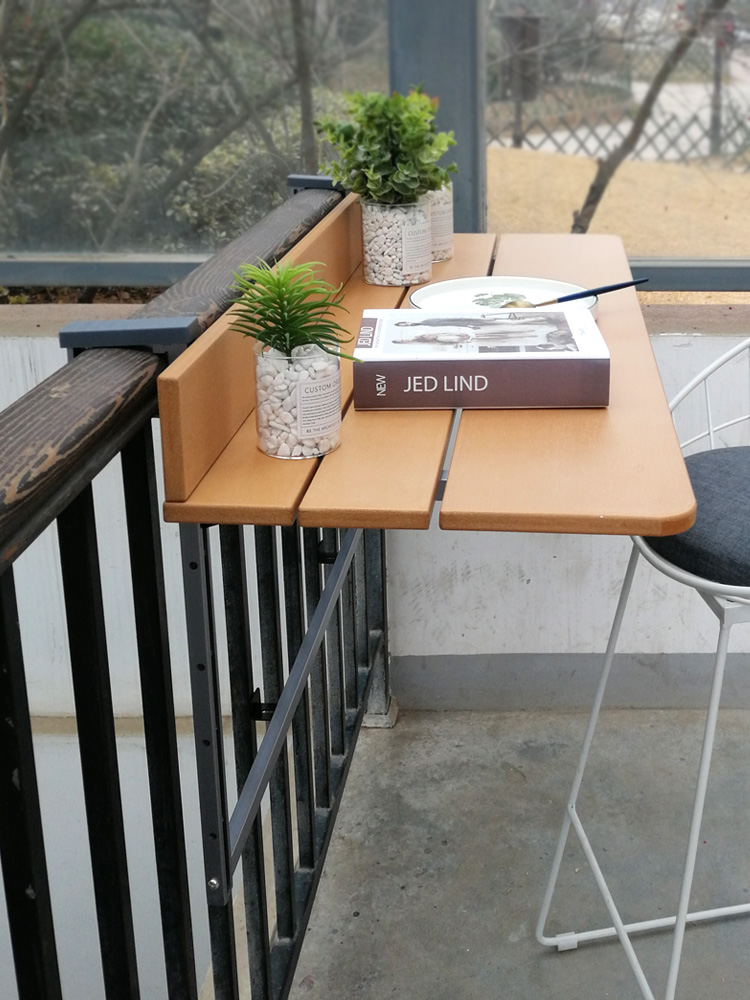 Balcony Railing Hanging Table Folding Convenient Hanging Computer Table Home Bar Counter Creative Lifting Folding Desk