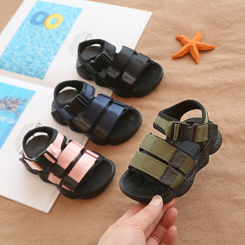 Toddler Shoes Baby Sandals Sport Style Boys And Girls Sandals Summer 2020 Water Shoes Children Boys Slide White Black Size 24-36