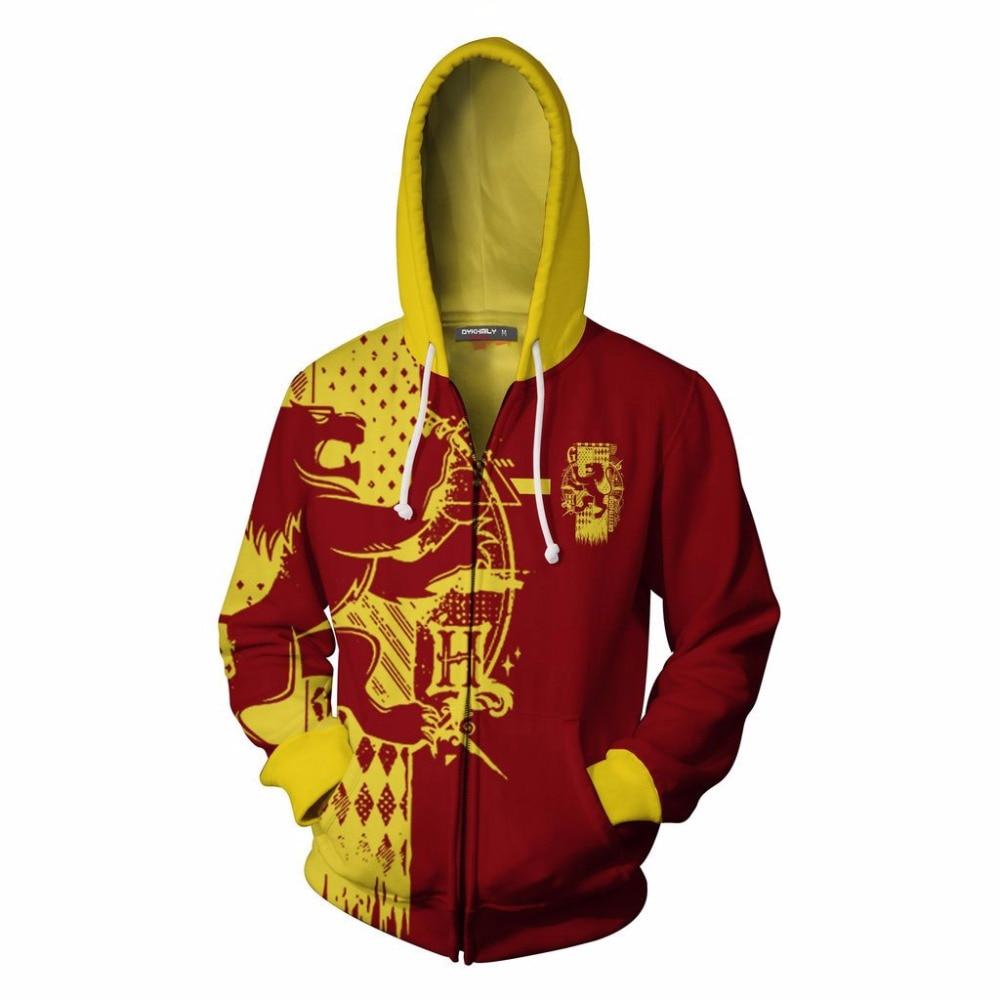 Gryffindor Slytherin   Hufflepuff RavenclawCostume Men Women 3D Hoodies Sweatshirts Fashion  Pullover Trackusits Cosplay Hoodies