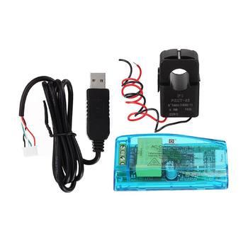 Nowy PZEM-004T AC cyfrowy miernik wielofunkcyjny Watt Power Volt Amp moduł testowy prądu TTL z cewką 100A 22000W 80-260V AC tanie i dobre opinie ZEAST Elektryczne 80 - 260V none other 0 5 19A i Pod