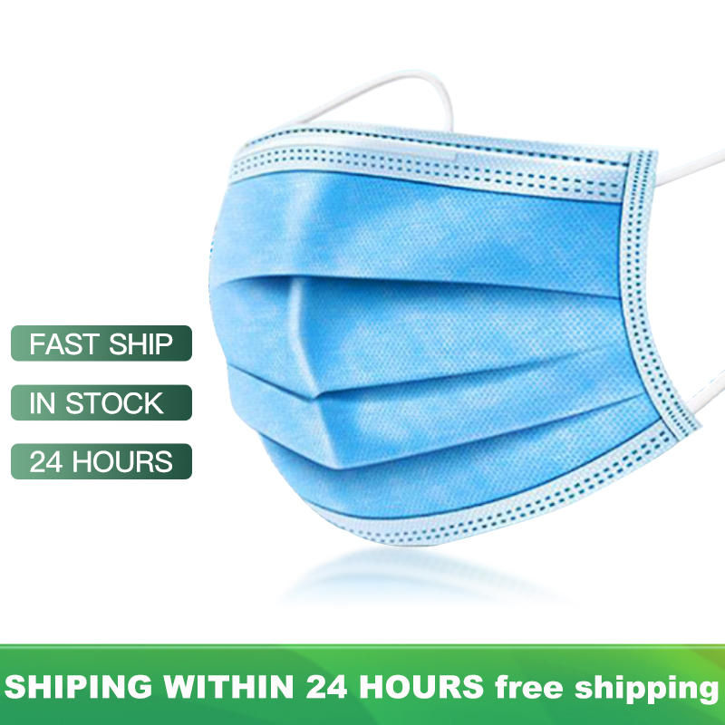 100 Pcs Respiratory Mask Anti Dust KN95 Disposable Face Masks 3 Layer Filter Face Protection Mouth Masks Breathable Earloop Mask