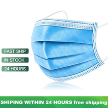 Respiratory Mask Anti Dust Disposable Face Masks 3 Layer Filter Face Protection Mouth Masks Breathable Earloop Mask