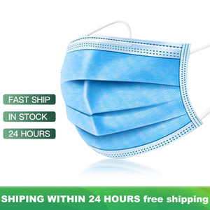 Image 1 - Respiratory Mask Anti Dust Disposable Face Masks 3 Layer Filter Face Protection Mouth Masks Breathable Earloop Mask
