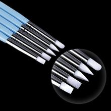 5pcs/set 2 Way Pottery Clay Ball Styluses Tools Polymer Clay Sculpture Tool Nail Art Carving Tools Silicone Shapers Dotting Tool dsha hot sale ball stylus dotting tools 18 pcs clay tools sculpture modeling tools for pottery sculpture plastic paper flowers