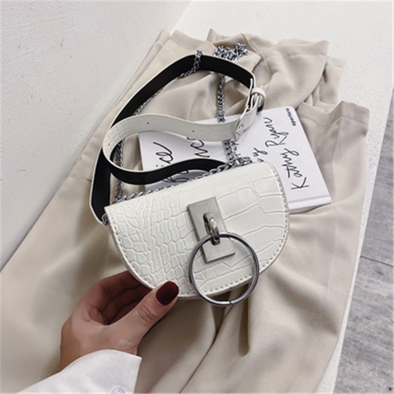 Stone Pattern PU Leather Crossbody Bags For Women 2020 Mini Shoulder Messenger Bag High Quality Female Waist Packs Lady Handbags
