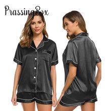 2020 pajama set Women silk Pajama