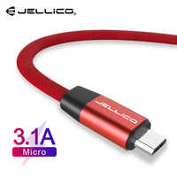 Jellico Micro USB Cable 3A Fast Charging USB Data Cable Cord for Samsung Xiaomi Redmi Note 4 5 Android Microusb Fast Charge 1M