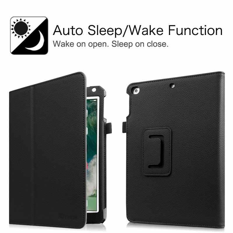 Pour iPad 9.7 2018/2017 iPad Air 1/2 étui Premium Vegan en cuir Folio Stand couverture Auto réveil/sommeil pour Apple iPad 6th 5th Gen Air2