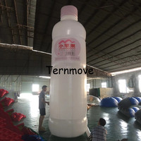 advertising inflatable product exhibition inflatable beer red wine coffee bottle can balloon model with air pump