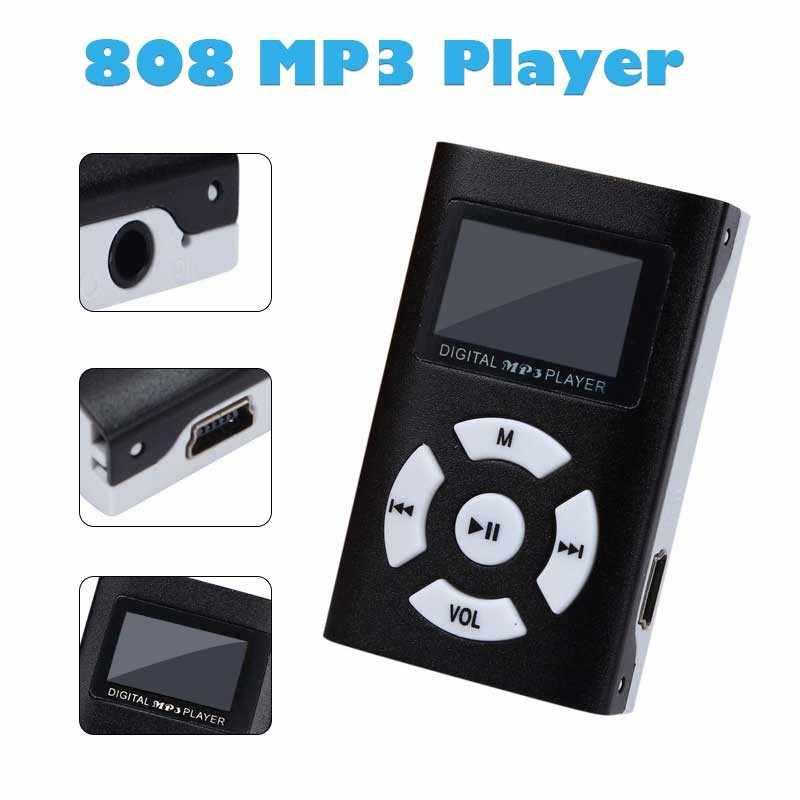 Hifi USB مشغل موسيقى MP3 صغير LCD حامل شاشة 32 جيجابايت مايكرو SD TF بطاقة الرياضة موضة 2019 العلامة التجارية الجديدة نمط Rechargeab #0916