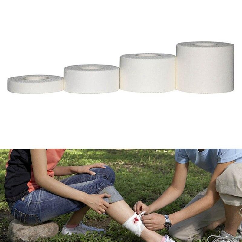 Self Adhesive White Bandage Elastic Stretch Wrap Tape Hand Wrist Finger Thumb First Aid Kit Sports Emergency Kits 4 Size