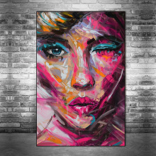 Abstract Woman Face Oil Paintings Print On Canvas Art Posters And Prints Modern Wall Art Canvas Pictures For Living Room Cuadros african large lions face canvas paintings on the wall art posters and prints animals lions art pictures for living room cuadros
