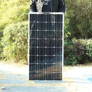 Image 2 - 1PCS 16V גמיש פנל סולארי תאים סולריים מודול ערכת 110V 220V עבור 12V אטום/ג ל/עופרת חומצה/ליתיום סוללה מטען