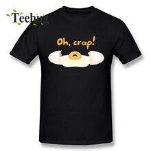 Cartoon Design Oh Crap Broken Egg T shirt Male Leisure Unique For O-neck Homme Tee Shirt Top design