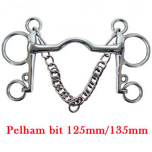 Horse-Bit Equestrian-Products with Hooks Curb-Chain Low-Port Mouth Mouth