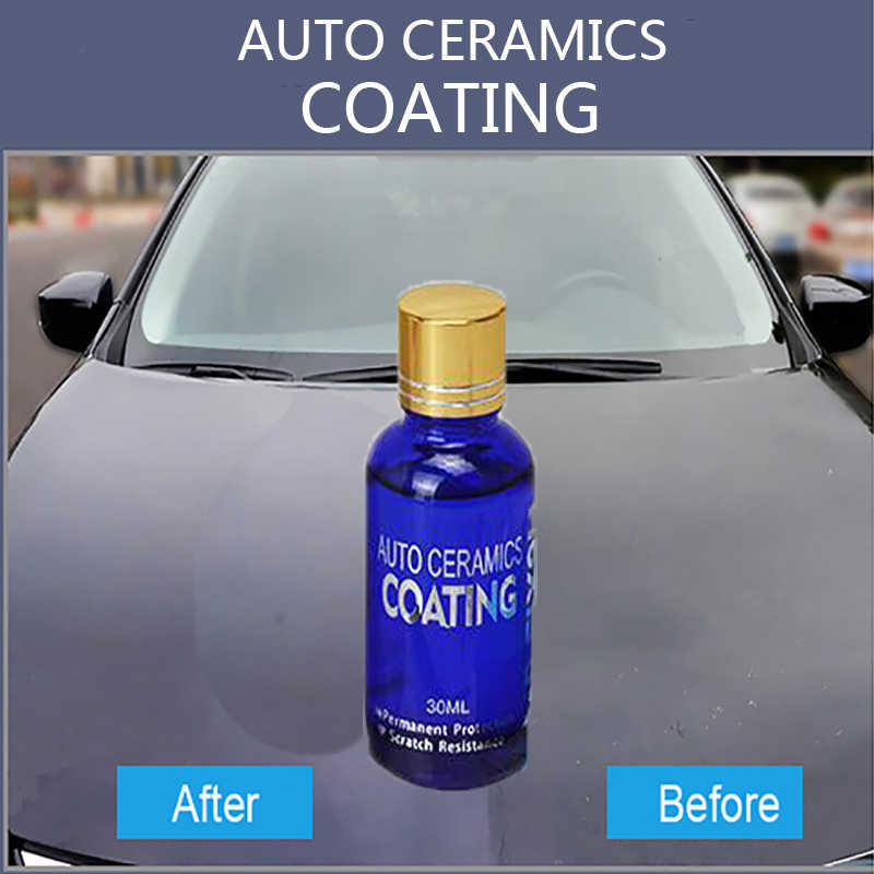 30 Ml Auto Vloeibare Keramische Jas Super Hydrofobe Glas Coating Set Polysiloxane Nano Materialen Auto Polish Auto Glasscoat 9H