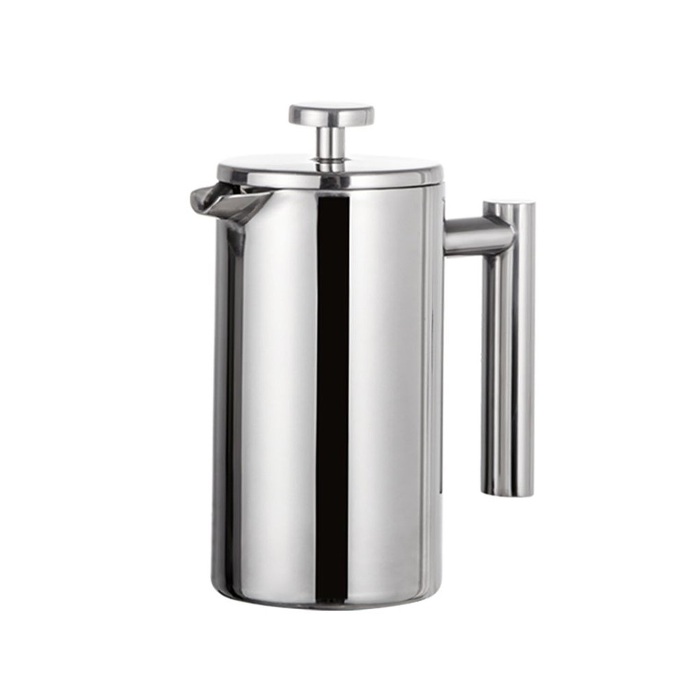 French Press <font><b>Coffee</b></font> Maker Double Walled Cafetiere Insulated <font><b>Coffee</b></font> Tea Brewer Pot With Filter Baskets Stainless Steel image