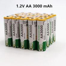 Daweikala AA 3000 1.2 V Quanlity akumulator AA 3000mAh NI-MH 1.2 V akumulator 2A Baterias 3000 + darmowa wysyłka