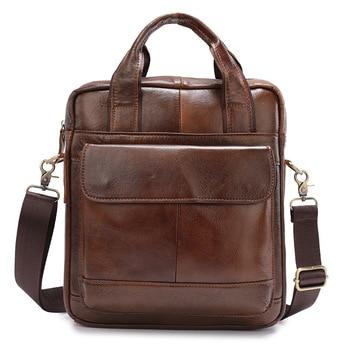 Men's Leather Bag Men's Briefcase Office Bags for Men Bag Man's Genuine Leather Laptop Bags Male Tote Briefcase Handbag