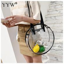YYW New Clear Women Tote Bag PVC Transparent Shopping Bag Shoulder Handbag Women Tote Travel Bags Environmentally Storage Bags