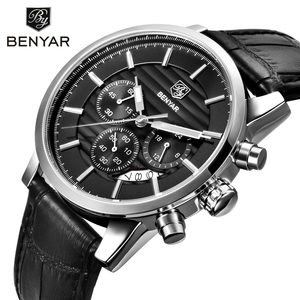 Image 2 - BENYAR Top Brand Luxury Stainless Steel Watch Men Business Casual Quartz Watch Military Wristwatch Waterproof Sport Relogio 2020