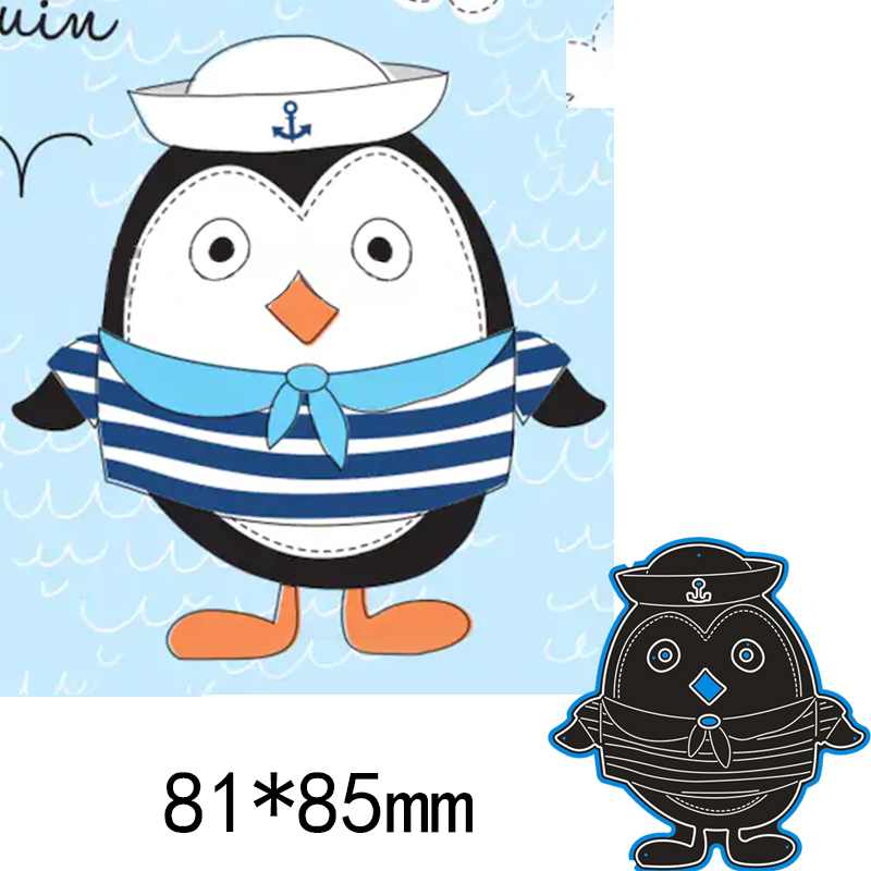 Lovely Penguin Metal Cutting Dies Stencil Scrapbook Embossing Card Craft Decor