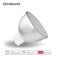 Gu5.3 หลอดไฟ LED MR16 12V WiFi Alexa Google Home Assistant Tuya Smart Life APP รีโมทคอนโทรล RGBCW LED LIGHT หลอดไฟหรี่