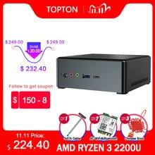 Новый мини-ПК AMD Ryzen 7 2700U четырехъядерный Vega 10 Graphic 2 * DDR4 M.2 NVME Настольный игровой компьютер Windows 10 4K HDMI2.0 DP AC WiFi