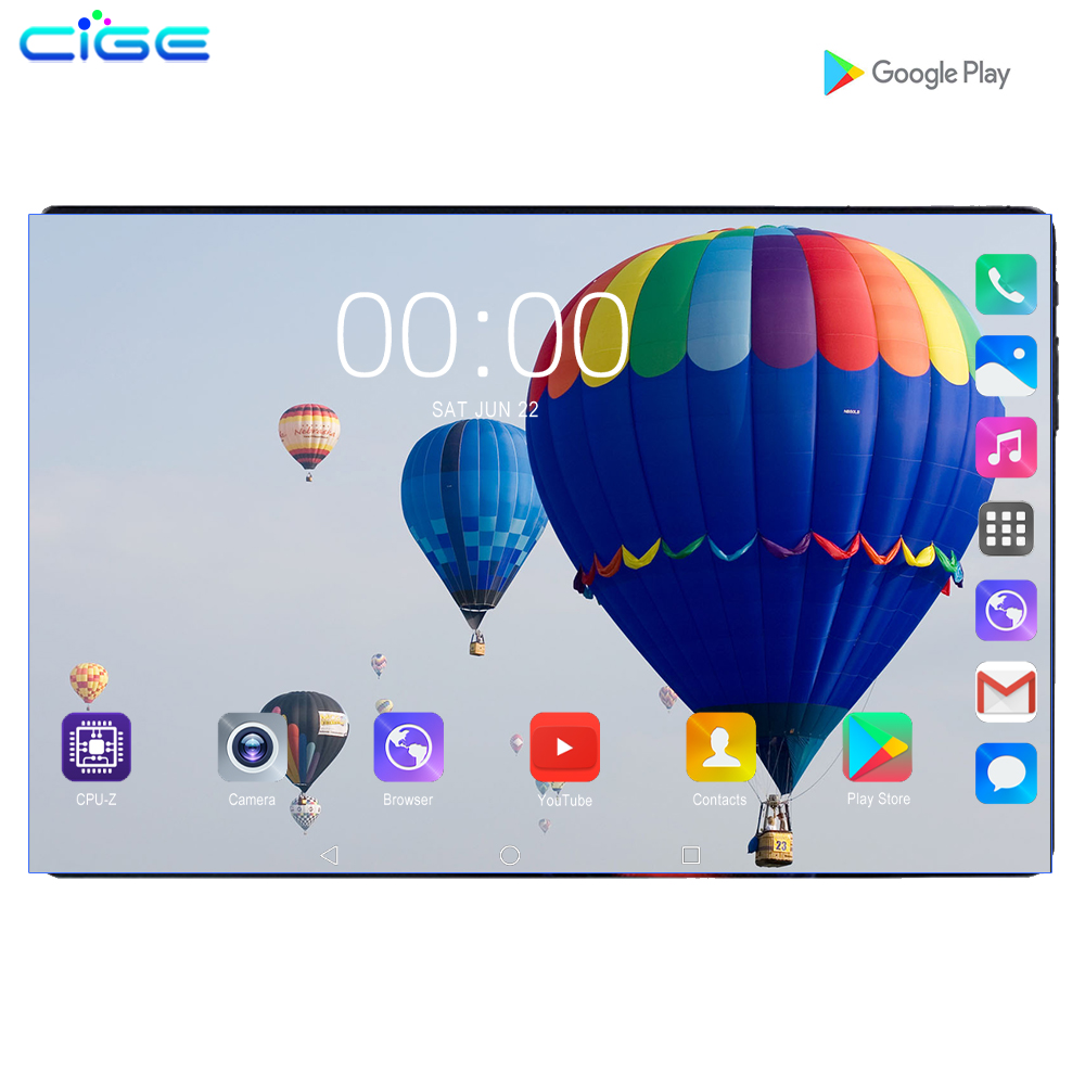 2020 New Design 10.1 Inch Android 9.0 Tablet Pc 6GB 128GB Dual SIM Card 1280x800 HD Large Screen Dual Camera 8 Core Tablets 10