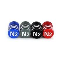 4 pcs Auto Tire Cap Valve Cover Aluminum Core Decoration Accessories Modification N2  for Honda Accord Civic