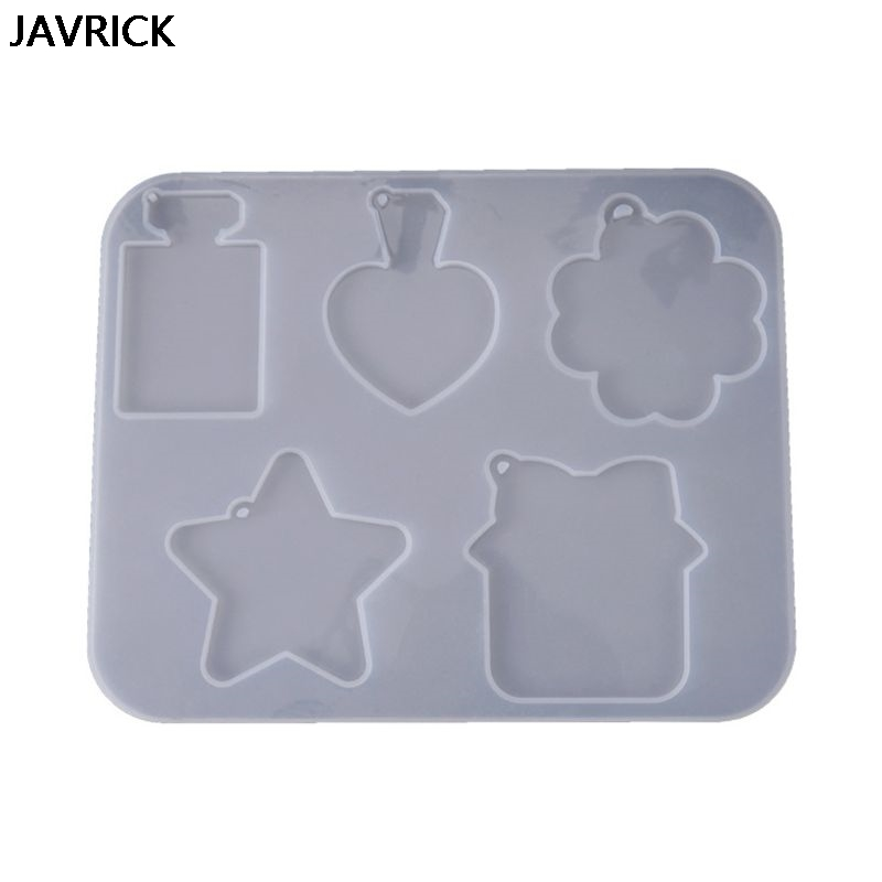 DIY Crystal Epoxy Mould UV Resin Clay Bottle Star Clouds Shape Silicone Mold Carfts Jewelry Making