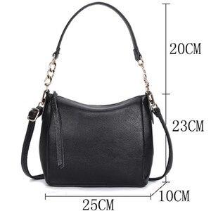 Image 4 - Crossbody Bags For Women Soft Leather Handbags Vintage Women Shoulder Messenger Bags Designer Sac Top handle Bag Bolsas Feminina