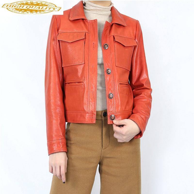 Sheepskin Coat Real Genuine Leather Jacket Women Clothes 2020 Women's Fur Coat Spring Tops Korean Elegant Female Coats ZT2275