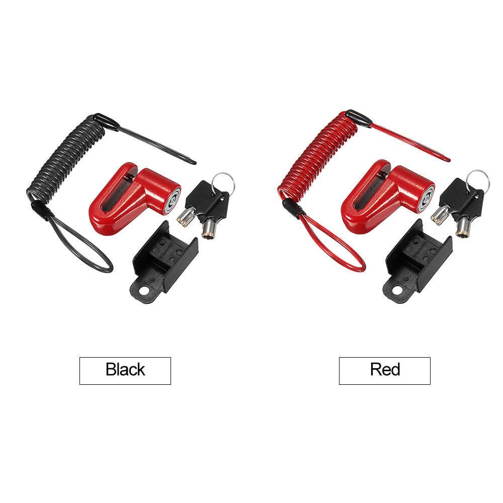 Anti-roubo aço fio bloqueio freios a disco rodas locker scooter acessórios para xiaomi mijia m365 scooter elétrico