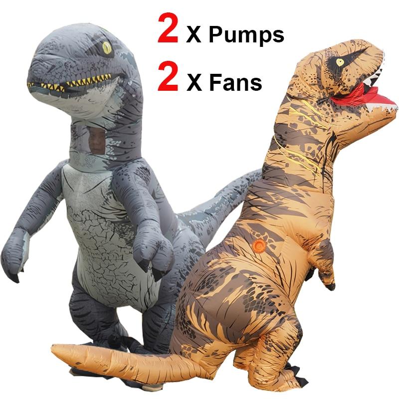 ThinkMax Traje Inflable Dinosaurio para ni/ños Disfraz de Halloween para Fiesta de Cosplay