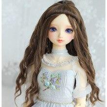 Perruques de poupée bouclées ondulées, couleur marron foncé, accessoires pour poupée BJD SD, longue, pour 1/3 1/4 1/6