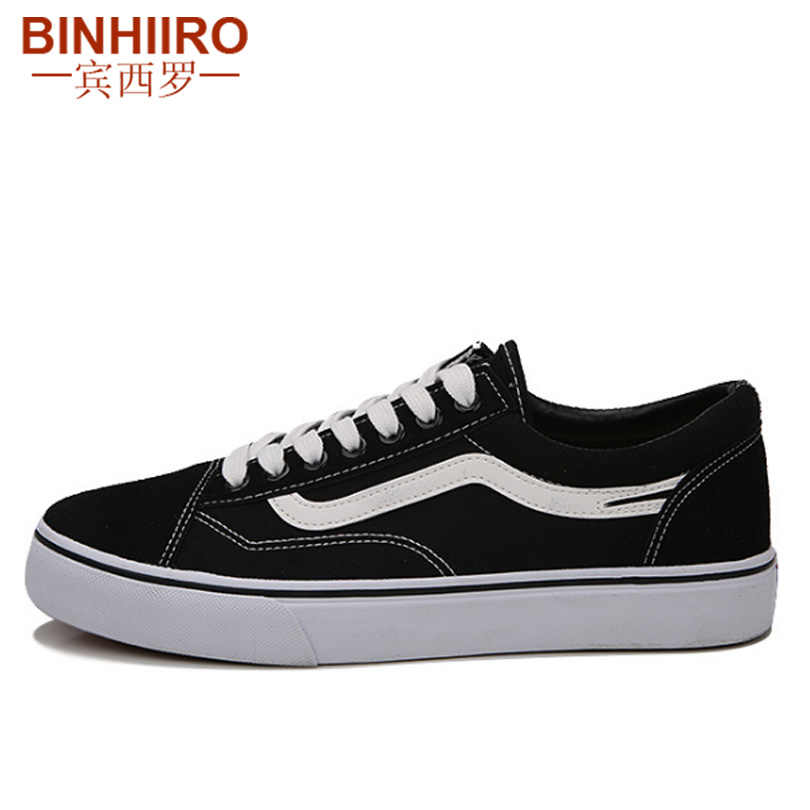 BINHIIRO Men's casual shoes flat bottom breathable low to help jogging sneakers men's classic fashion retro canvas shoes men 675