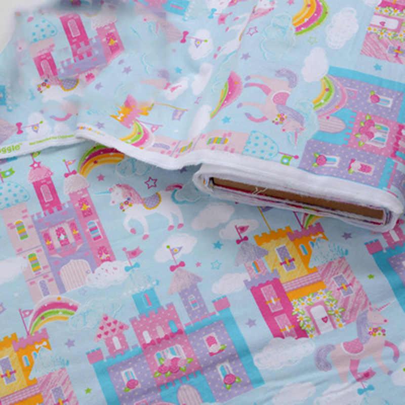 ครึ่ง 110 ซม.เด็กผ้ากำมะหยี่สำหรับชุดนอนการ์ตูนพิมพ์ผ้าฝ้าย 100% ผ้าปูที่นอนผ้า T1065