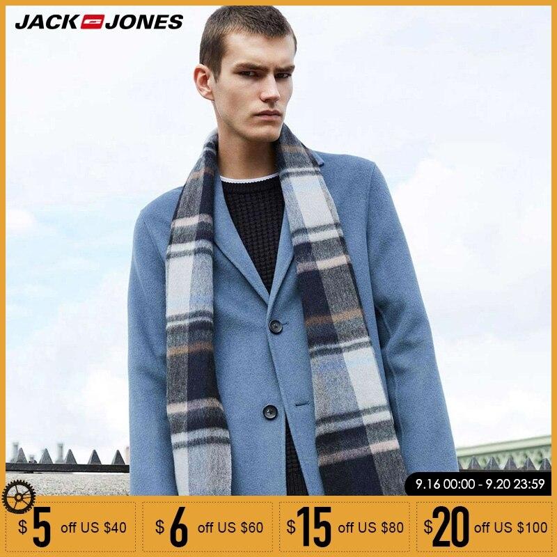 Jack Jones новое осенне зимнее мужское шерстяное пальто Верхняя одежда длинная куртка | 218327522