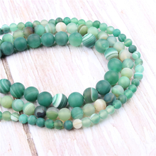 Green Stripes Natural?Stone?Beads?For?Jewelry?Making?Diy?Bracelet?Necklace?6/8/10/12?mm?Wholesale?Strand