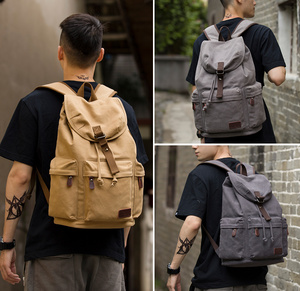 Image 2 - MOYYI الرجال 14 بوصة محمول على ظهره حقيبة من القماش للجنسين حقائب السفر USB شحن حقيبة مدرسية طالب موشيا