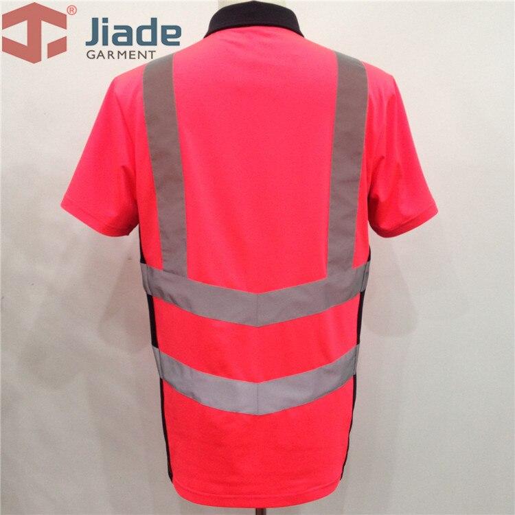 Camisa de segurança cor-de-rosa de alta visibilidade