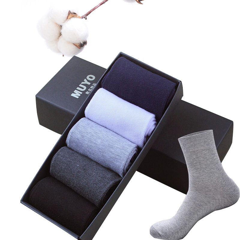 Summer Brand Fashion Combed Cotton Breathable Short Business Socks Men Dot Diamond Line Solid Color Men's Socks NO Box 5pair