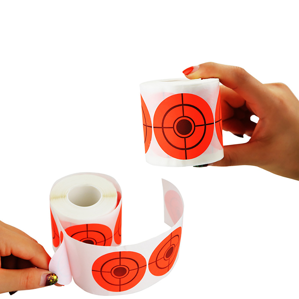 250 Pieces 5cmtarget Sticker Roll Self-adhesive Shooting Paper Target Roll Florescent Orange