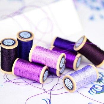 Рулон 0,3 мм полиамидного волокна линия ручной вышивки нить кисточки линия 50 м высокая прочность 3 нити фиолетовый