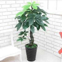 90CM Real Touch Artificial Plants Plastic Artificial Money Tree Tropical Fake Plants Home Garden Decor No pot