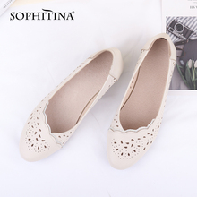 mljuese 2018 women flats brown color cow leather square toe flats spring comfortable oxfords women shoes size 34 43 office shoes SOPHITINA Learther Flats Women Round Toe Cow Leather Comfortable Spring And Fall Women's Flats Autumn Shallow Shoes Woman CZ014